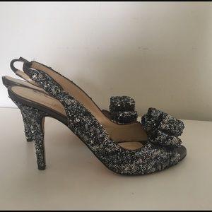 Kate Spade slingback sequin heels